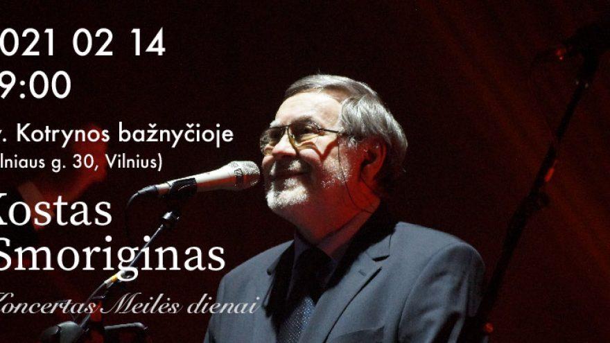 Kostas Smoriginas. Autorinis koncertas.
