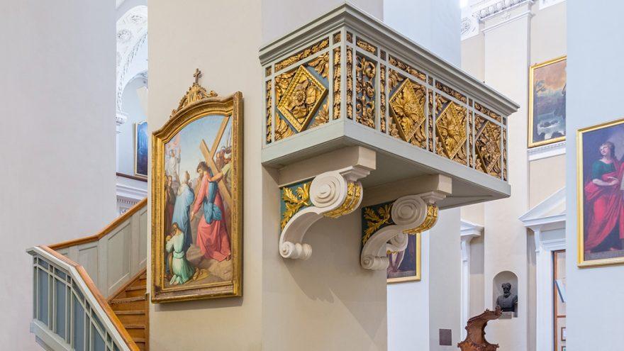 """Virtuali paskaita """"Nuo Nojaus iki Teofiliaus: šventųjų, palaimintųjų ir Biblijos veikėjų atvaizdai Vilniaus katedroje"""""""