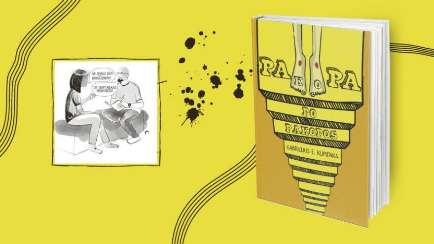 """Interaktyvus Gabrielius E. Klimenka knygos """"Pakopa po pakopos"""" pristatymas"""