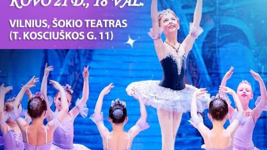 """(Perkeltas) Nuostabusis vaikų baleto spektaklis """"Miegančioji gražuolė"""""""