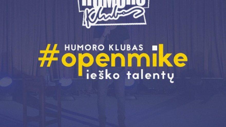 """""""Humoro klubas"""" – atviras mikrofonas"""