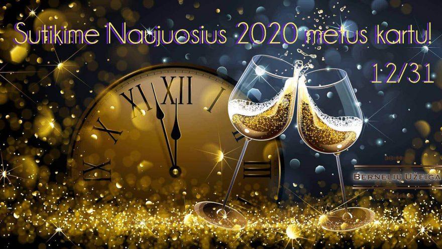 Sutikime Naujuosius 2020 metus kartu!
