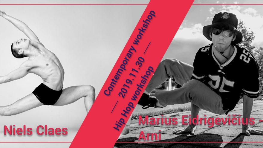 """Šiuolaikinio ir gatvės šokio seminarai """"Motus"""" šokių mokykloje"""