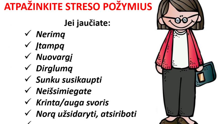 Streso įvaldymo seminaras