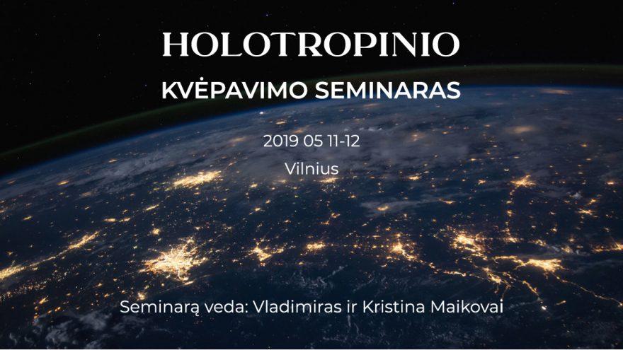 Holotropinio kvėpavimo seminaras (teorija + praktika)