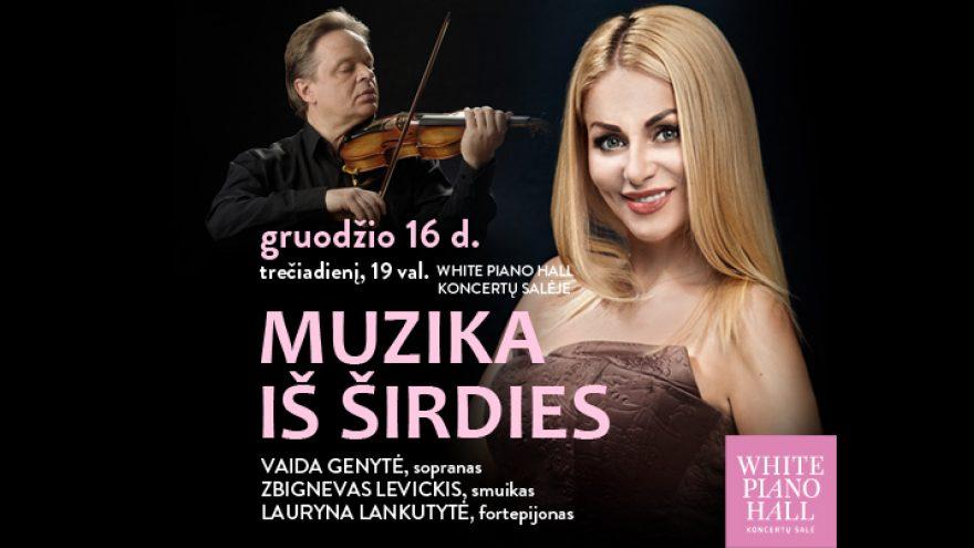 """Festivalis """"Muzikinės Kalėdos"""". MUZIKA IŠ ŠIRDIES / Genytė / Levickis / Lankutytė"""