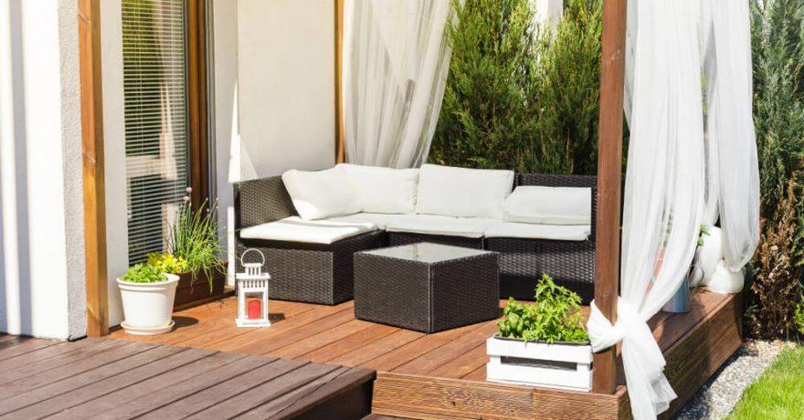 Kaip apsaugoti terasą nuo nepalankaus oro