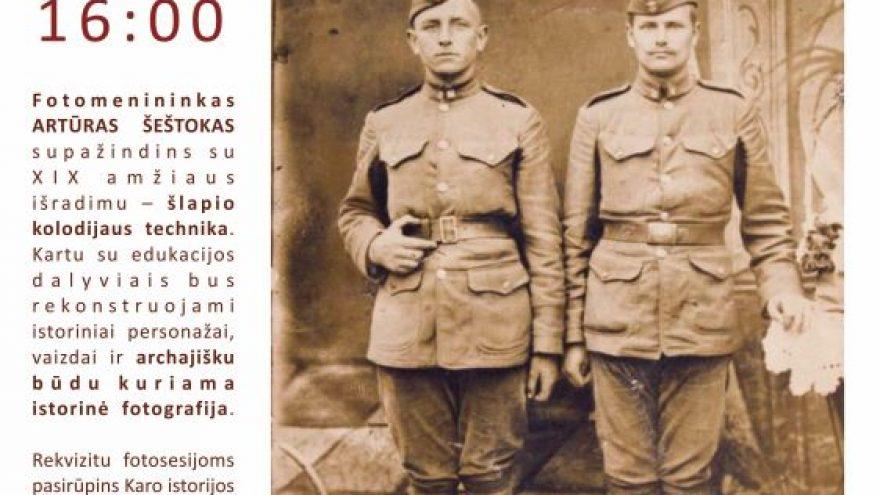 """Fotografijos edukacija """"Lietuvos istorinis karinis kostiumas"""""""