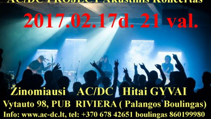AC/DC PROJECT AKUSTINIS KONCERTAS