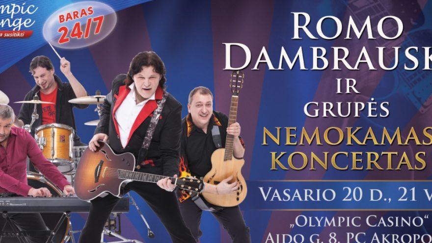 Nemokamas Romo Dambausko koncertas Šiaulių Olympic Casino