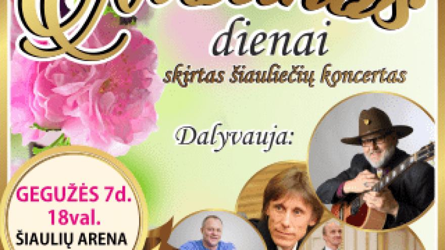 Grandiozinis šiauliečių koncertas Motinos dienos proga