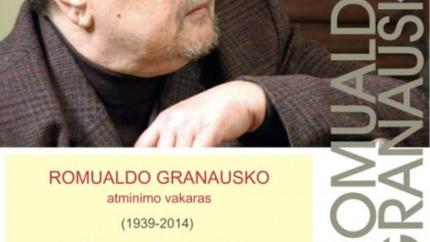 """Romualdo Granausko atminimo vakaras """"Raudonu ant balto"""""""